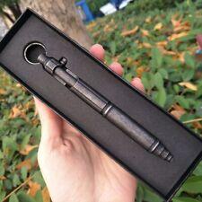 EDC Outdoor Self-defense Retro Stainless Steel Pen Bolt Type Tactical Pen