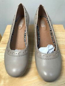 BNIB HOTTER OPAL Ladies Beige Leather Heeled Court Shoes @ Size UK 6.5 EXF NEW