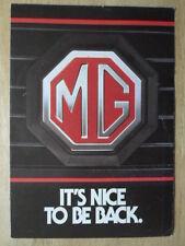 Mg 1982 Orig relanzar PUBLICIDAD folleto con el Metro 1300 e historia