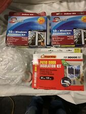 """Used Frost King Patio Door Insulation Kit Shrink Film up to 110""""x 84""""  + Dennis"""