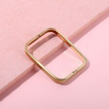 Gold Plated Over Brass Rectangle Bangle Bracelet Geometric Cuff Simple Jewelry