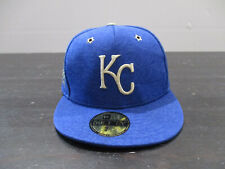New Era Kansas City Rayols Hat Cap Blue Gold Fitted Size 7 5/8 All Star Baseball