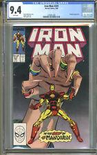 Iron Man #241 CGC 9.4 NM WHITE Pages Universal CGC #1476871005