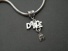 Silver Dance Ballet Charm for European Bracelet Buy2 Get1Free