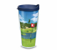 Tervis Tumbler 24oz  GOLF COURSE Insulated Cup w Blue Travel Lid
