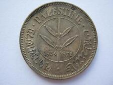 Palestine 1934 silver 50 Mils, NEF toned.