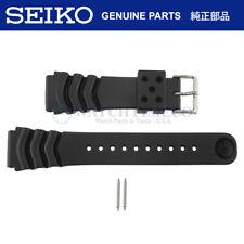 Genuine Seiko Diver Watch Band Strap SKX007 SKX009 22mm Black Rubber Z22 4FY8JZ