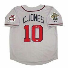 Chipper Jones Auto / Autograph Atlanta Braves Road Jersey Beckett COA