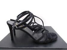 Saint Laurent YSL Jane 80 Classic T Strap Suede Sandals Shoes 38 8