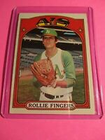 1972 Topps #241 Oakland Athletics Rollie Fingers HOF EX (no creases)