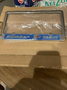 NUMBER 1 License Plate Frame NOS Never Installed Corvette  Chevelle Camaro Chevy