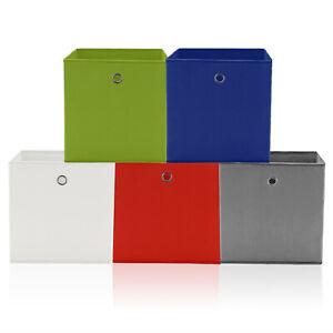 4xAufbewahrungsbox Aufbewahrungs Regal Einschub Korb Box Stoff Faltbox Einteiler