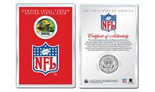 GREEN BAY PACKERS NFL Helmet JFK Half Dollar Coin w/ 4x6 Lens Display - LICENSED