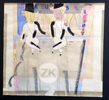 LE BOEUF SUR LE TOIT Cocteau MILHAUD Musical Art Deco Aquarelle BENITO 1920 #1
