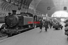 PHOTO  GWR 94XX NO 8436 1962 AT PADDINGTON EMPTY STOCK GENERAL SCENE FROM BUFFER