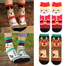 New Women Girls Winter Warm Cotton Socks Santa Claus Deer Snowman Xmas Gifts