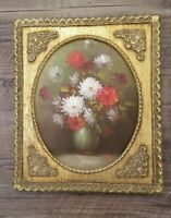 Vintage Gold Gilt Ornate Wood Frame With Oil Painting 12×10