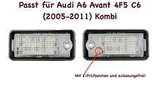 2x TOP LED SMD Kennzeichenbeleuchtung für Audi A6 Avant 4F5 C6 (2005-2011)  /CB/