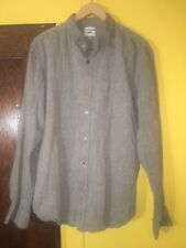Old Navy Slim Fit Mens Shirt Large Button Down Dark Grey Chambray Long Sleeve