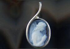 Engel echte Edelstein Gemme Silber Anhänger Schutzengel