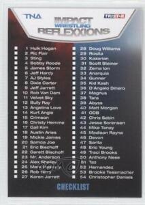2012 TRISTAR TNA Impact Wrestling Reflexxions Checklist