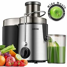 Electric Cold Press Juicer Machine Slow Fruit Juice Extractor Maker Dual Speed