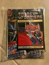 Optimus Prime Instruction Booklet stickers & extras in sealed bag G1 Transformer