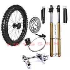 45mm 48mm Front Fork Triple Tree Brake Caliper + 70/100-19 Tire Wheel Dirt Bike