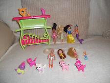Polly Pocket Juego Muñecas Snow White Sparkle Brillo Mascotas Paquete de Accesorios en muy buena condición