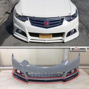 Front Lip FOR Modulo Bumper For Honda Accord 8 VIII / Acura TSX CU2 2008-2014