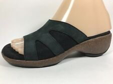 Merrell Sundial Slide Black Leather Slip On Sandals Women's Sz 6 M