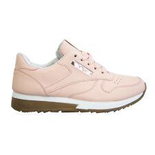 Scarpe Da Ginnastica Donna Rosa In Eco Pelle Sneakers Stringate Sportive Fitness