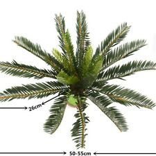 Artificial Plants Palm Tree Green Leaves Fake Large Leaf Greenery Plant Decor