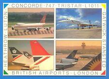 BRITISH AIRPORTS.LARGE POSTCARD
