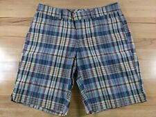 Dockers Womens Purple Blue White Plaid Cotton Blend Golf Shorts Size 6