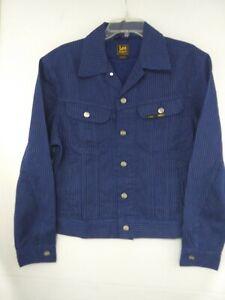 Lee Alife Art Museum Blue/Gray Pinstriped Jean Jacket NWT $150 Men's Medium