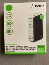 New Belkin Travel Rockstar Battery Pack Charger & Surge Protector - Ships Fast!