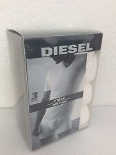 NEW! Diesel The Essential Jake 3-Pack White V-Neck Short Sleeve Tee T-Shirt S