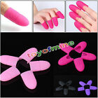 10PCS Silica Gel Nail Soak Off UV Gel Art Polish Remover Wrap Clip Cap Tool