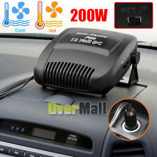 200W DC12V 2 IN 1 Car Ceramic Heating Cooling Heater Fan Defroster Demister NEW