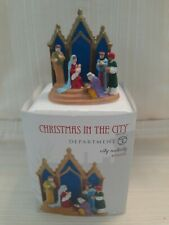 Department 56 Christmas in the City City Nativity! Rare! New!