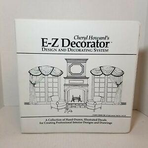Cheryl Howard's Design Decorating System EZ Decorator Binder Decals 1-81 Pages
