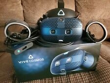 HTC Vive Cosmos VR Virtual Reality Headset and Controllers - Black/Blue