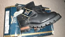 RARE NEW KARL KANI MENS VINTAGE BLACK LEATHER BOOTS 11 US