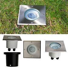 LED Bodeneinbaustrahler Bodeneinbauleuchte 3 W Quadrat Energieeffizienzklasse A