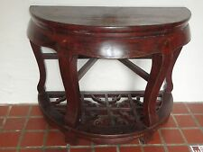 Antique 19 c. Qing Chinese Hongmu Lacquered Carved Wood Consile Table 清红木表