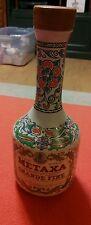 METAXA Grande Fine Liquor Keramikos Athens Greece Ceramic Bottle w/ Cork Stopper