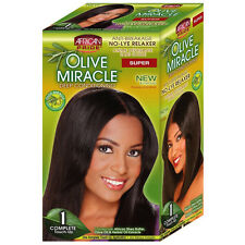 African Pride Olive Miracle Deep Conditioning Anti Breakage No-Lye Relaxer Super