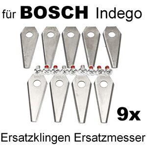 9 Ersatzmesser Messer Messerbalken Klingen Mähroboter Bosch Indego & Schrauben
