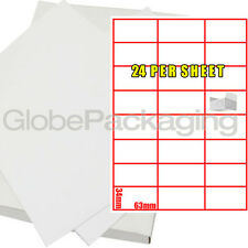 100 SHEETS OF PRINTER ADDRESS LABELS - 24 PER PAGE